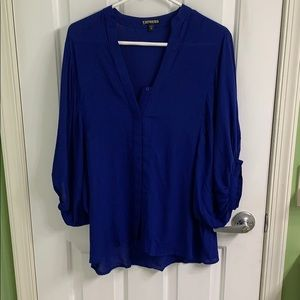 Royal blue/purple short sleeve size medium.